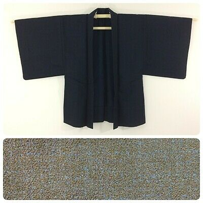 Japanese men's haori jacket for kimono, small-medium, wool, Japan import(AA2638)