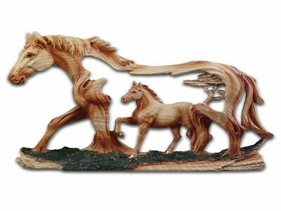 Two Horses Resin Plaque - Brand New