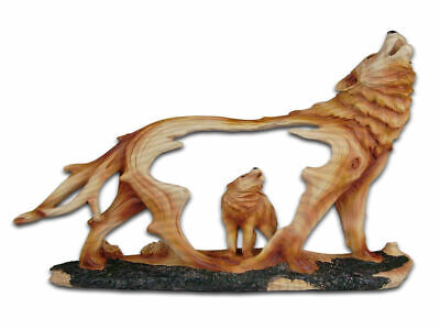 The Cherokee River Collection - Howling Wolves Resin Plaque - Brand New