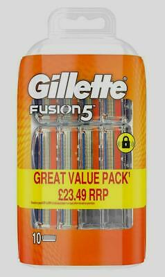 Gillette Fusion5 10 Blades Pack New & Sealed 100% Genuine Same Day 1St Class