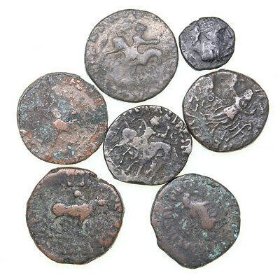 Ancient India Indo-Scythian lot of 7 pc + 1 pc