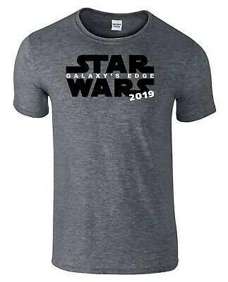 Star Wars Galaxy's Edge T-Shirt Disney Holiday Vacation Shirts Heather Blend Tee