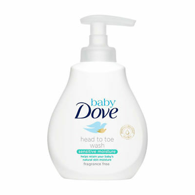 DOVE Baby Bath Head To Toe Wash Sensitive Moisture Soft Gentle 200ml