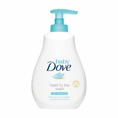 DOVE Baby Bath Head To Toe Wash Rich Moisture Soft Gentle 200ml