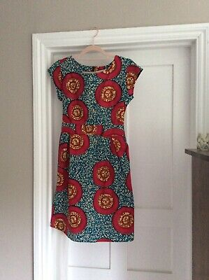 Marvin Browne Spitalfields Size 12 Summer Dress With Beautiful African Print