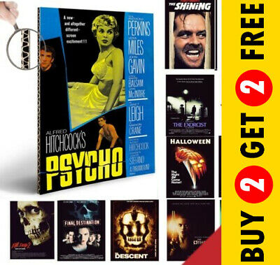 CLASSIC HORROR SCARY THRILLER MOVIES A4 / A3 Posters Vintage Film Cinema Prints