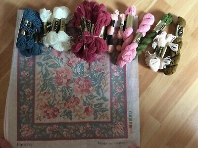 Laura Ashley Tapestry Cushion Canvas And Wools Floral new