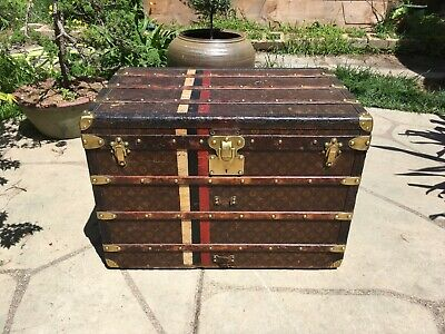 LOUIS VUITTON Antique Monogram Travel Wardrobe Steamer Trunk chest purse bag LV2