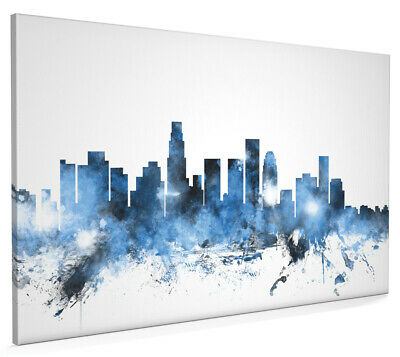 Los Angeles California Skyline Cityscape Box Canvas and Poster Art (1122)