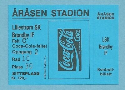 Ticket  Lillestrom Sk - Brondby If  1995/96 C3
