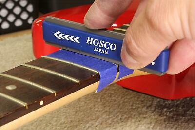 Hosco Compact Fret Crowning File for Narrow Frets, coarse and fine cutting edges