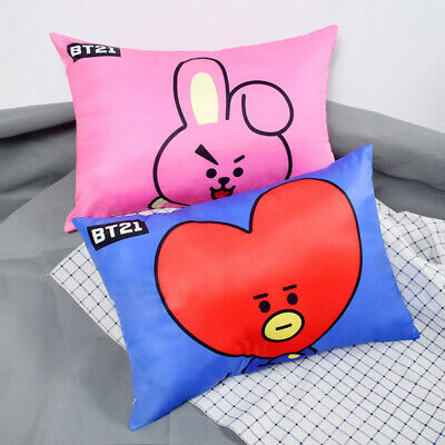 Kpop BTS BT21 Pillow Home Cushion MANG TATA KOYA CHIMMY COOKY Case+Interior Core
