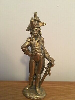 Old Solid Brass Military Soldier Figure
