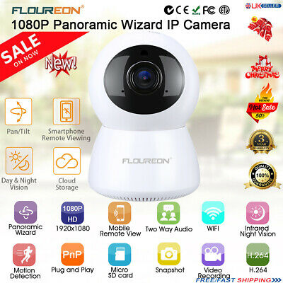 1080P WIFI IP Panoramic Camera Wireless Indoor CCTV Home Security Motion IR Cam