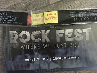 Rock Fest 3 day passes (2 wristbands/tickets) general admission