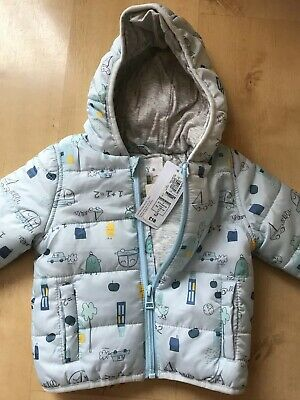 New Tags Marks & Spencer's Baby Boys 0/3 Months Spring Jacket Padded Light