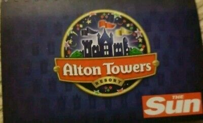 ALTON TOWERS TICKET 17/7/19 - Wednesday 17Th July 2019 (Not E tickets)