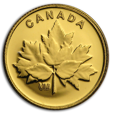 2019 Canada 1/25 oz Proof Gold Bouquet of Maple Leaves - SKU#193923