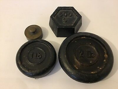 Vintage Cast Iron And Brass Weight Job Lot