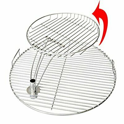 "Grill Cooking Grate 13.5"" BBQ Rack Stainless Steel Round Grid Heavy Duty Outdoor"