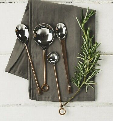 The Just Slate Company Set of 4 Copper Condiment Spoons Hand Made In Scotland