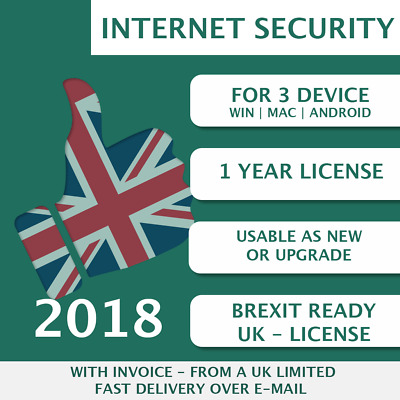 Kaspersky Internet Security 2018 [3 PC, 3 Devices, 3 User  - KEY - ESD]