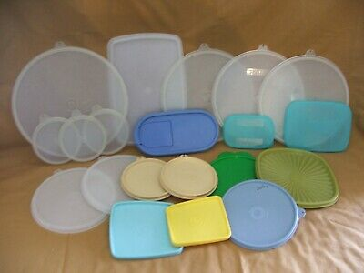 Tupperware Lot Of 5 Vintage Replacement Lids 296 259 Picclick
