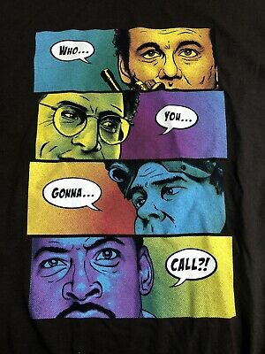 Ghostbusters Who You Gonna Call Graphic T-Shirt From Shirt Punch Size XL Gildan