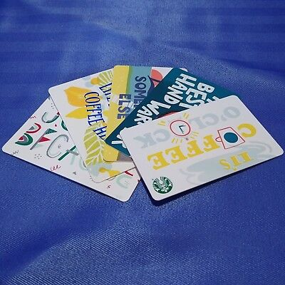 1x STARBUCKS Canada Blank Gift Cards 2018 Collectible Loadable Chinese New Year