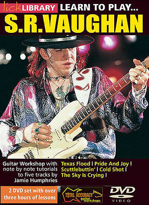 Lick Library LEARN TO PLAY STEVIE RAY VAUGHAN Blues Guitar Video Lessons 2 DVDs