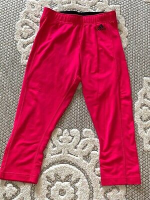 Adidas Climalite Hot Pink Small Athletic Capri Leggings