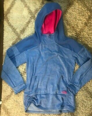 32159bee15442d The North Face Womens DYNAMIX Mountain Athletics Pullover Hoodie Blue /Pink(SZ:M