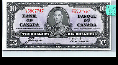 Canada 1937 - UNC+  $10  COYNE/TOWERS BANKNOTE