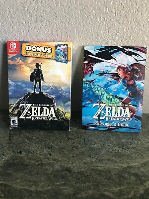 Explorers Guide & cover Legend of Zelda Breath of the Wild Switch BOOK ONLY