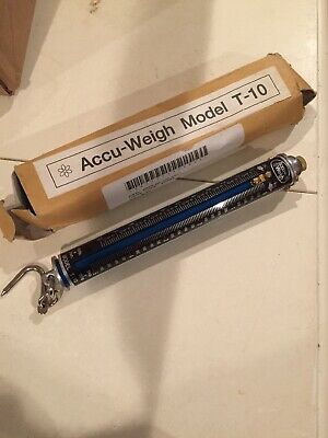 Accu-Weigh Hanging Tube Spring Scale - Model T-10 Lbs 5kg 10lbs NEW NIB