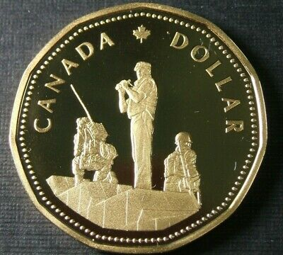 1995 Canada Peace keeping Dollar Proof Loonie Coin - Heavy Cameo
