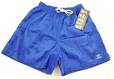 NWT Vintage 90's Umbro Soccer Satin Shorts Blue Mens L