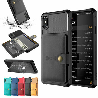 Magnetic Card Holder Phone Case Cover for iPhone 6 6s X XS XR XSMAX 7Plus 8Plus