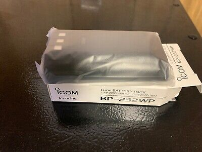 GENUINE ICOM BP232WP Battery Pack Waterproof (IP67) 7.4V 2300mAh Lithium Ion
