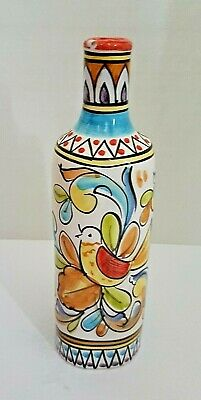 Solimene Vietri Hand Painted Decorative Bottle/Vase - See Pictures