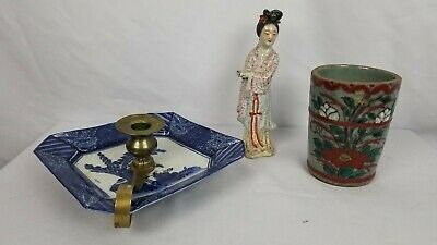 Lot Of 3 Antique Chinese Japanese Items