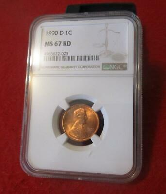 1990-D  NGC MS 67 RD Red Lincoln Memorial Cent                         #MF-1503