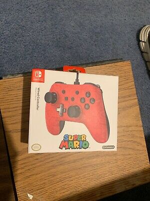 PowerA Super Mario Wired Controller for Nintendo Switch - Red Brand new