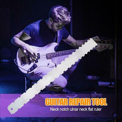 Stainless Guitar Neck Notched Ruler Fret Fingerboard Straight Edge Measurement