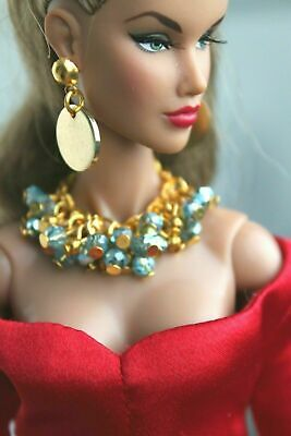 Fashion royalty/Poppy Parker/Color Infusion/ jewelry earrings necklace