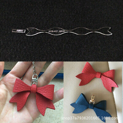 Leather Craft Clear Acrylic DIY Bow-tie Keychain Mould Pattern Stencil Template