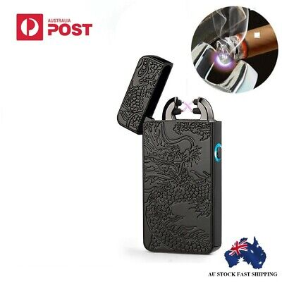 Fashion  Rechargeable Windproof Double Arc Flameless Cigarette Lighter Electric