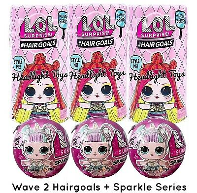 3 LOL Surprise Makeover Series 5 WAVE 2 Hairgoals Doll + 3 Sparkle Balls 1 2 5 6