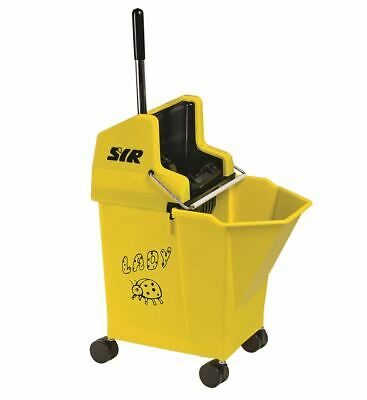 SYR Kentucky Yellow Ladybug Mop Bucket & Wringer -15L with 30ml Portion Control