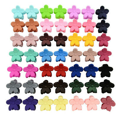 50 PCS Kids Baby Plastic Girls Hairpins Mini Claw Hair Clips Clamp FlowerKr